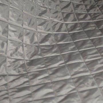 ф4826 Светло-серая стеганая ткань (100% п/эстер). Италия.