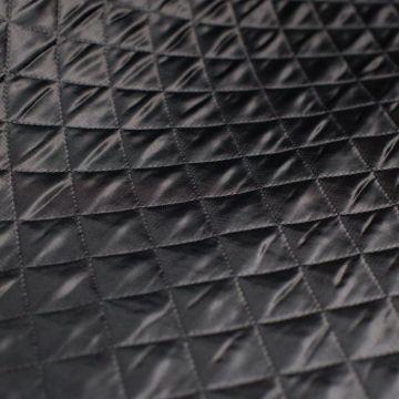 ф4829 Черная стеганая ткань (100% п/эстер). Италия