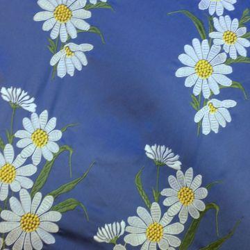 ф3118 Dolce&Gabbana Белые ромашки на голубой тафте