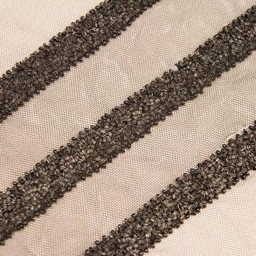 ф3727 Матовая черная бисерная тесьма