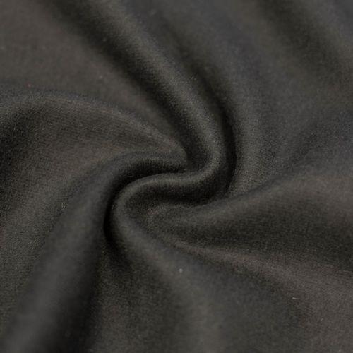 ф2809 Трикотажный драп черного цвета (100% шерсть).