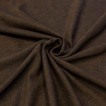 ф3529 Темно-коричневое джерси (40%хлопок 60%шерсть).