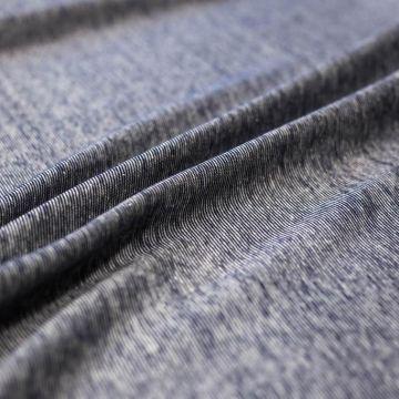 ф5467 Мелкая сине-белая трикотажная полосочка (100% хлопок).