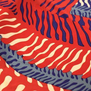 ф2644 Вертикальные синие и красные кораллы Трикотаж