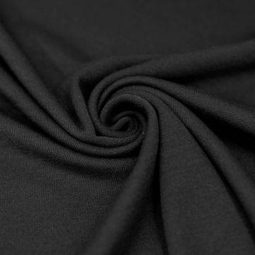 7106 Плотное черное джерси (100% шерсть).