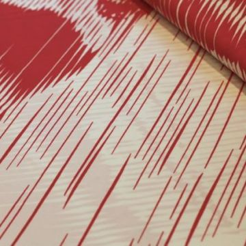 ф2689 Красная дама под дождем Трикотаж