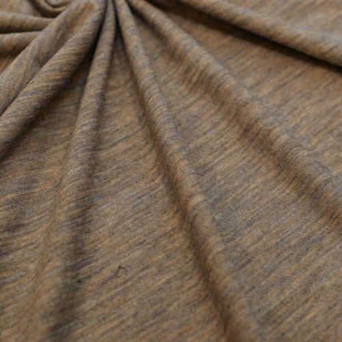 9500 Серо-песочный трикотаж меланж (70% шерсть 30% вискоза).